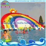 Quality Guangzhou QinDa Inflatable Slide Inflatable Water Slide. Water Park. Water Pool Slide for sale