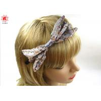Buy Fashion Girls Floral Decorative Metal Hair Band Bows Hair Accessories at wholesale prices