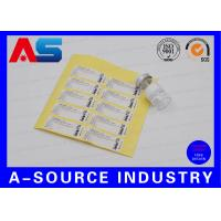 Quality Adhesive Anti-Fake Paper 2ml Stickers For Somatropin DNA Origin Sterial Water Injection Vials for sale