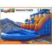 Buy cheap Blue Color Giant Inflatable Slide Inflatable Water Slide Game Inflatable from wholesalers