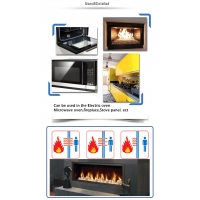 The Tempered Black White Ceramic Gas Oven Door Glass For Microwave Oven