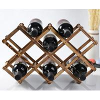 Quality Quality Promised Wooden Wine Rack Display Bottle Shelf Wood for sale