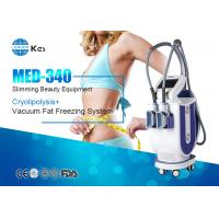 Quality 2 Handpieces Cryolipolysis Fat Freeze Slimming Machine For Double Chin Removal for sale