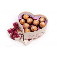 Quality Heart Shape Chocolate  Recycled Cardboard Gift Boxes , OEM for sale