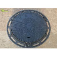 China Heavy Duty Cast Iron Drain Grating Recessed Round Manhole Cover Lid With Frame on sale