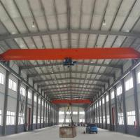 Quality 15 Ton Single Girder Eot Crane 30m Max Lifting Height Electric Motors Driving for sale
