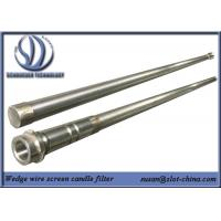 Quality Stainless Steel Slot Tube Candle Filter With End Fittings for sale