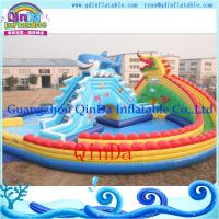 Quality Inflatable pool water park /portable pool water park inflatables pool with slide for sale