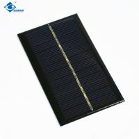 China 5V 0.9W Solar Photovoltaic Panel ZW-11065 Epoxy Resin Solar Panel For dc sliding gate motor on sale