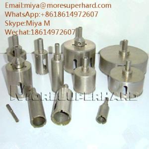 Quality Electroplated Diamond Core Drill Bits for glass, crystal, fiberglass miya@moresuperhard.com for sale