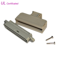 Quality Tyco 180 Degree Male Centronic Solder 50 Pin Connector With Plastic Cover Certificated UL for sale