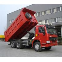 Red SINOTRUK Euro II Mining Dump Truck With Φ420mm Single Plate Dry Clutch
