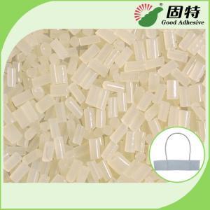 Quality EVA White granule For Paper Rope Handle Hot Melt Glue Adhesive  Paper Handbags Wrist rope EVA hot melt adhesive for sale