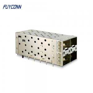 Quality 40pin 2*2 4port Female Press Pin SFP+ Cage Connector for sale