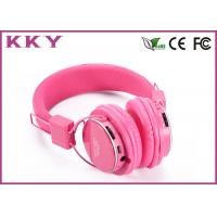 3.0 Wireless Bluetooth Stereo Headphones Pink With FCC / CE / RoHS Certificate