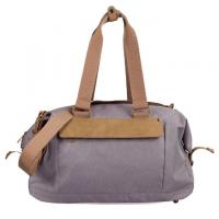Quality Gray Color Waterproof Duffel Bag / Lightweight Travel Bag Customized Logo for sale