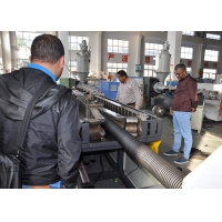 China PLC 110mm Diameter PVC Corrugated Pipe Extrusion Line on sale