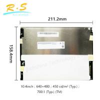 Buy cheap Matte 10.4 inch 640*480 VGA tft lcd panel 80/60/80 , Brightness industrial lcd from wholesalers