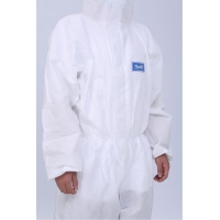 Quality FDA510K coverall isolation suit 63g Disposable Medical Protective Clothing for sale