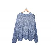 Quality Round Neck Womens Knit Sweater Pleuche Irregular Knitted OEM / ODM Service for sale