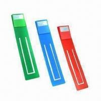 Quality Mini Bookmarks with LED Lamp, Powered by 3 x AG13 Button Cell Battery for sale