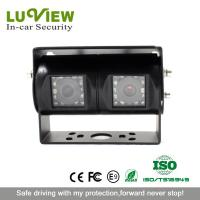 China Luview security dual camera 700tvl waterproof rear view camera for truck on sale