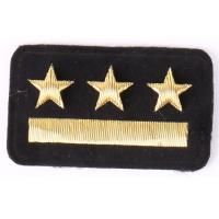 Gold Star Military Bullion Badges For T - Shirt , Military Embroidered Patches