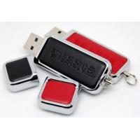 Promotional Huge School Leather USB Flash Drive 32G  64G 128GB  , Leather Memory Stick
