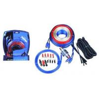 Quality 4 GA Blue PVC Car Audio Amplifier Wire  Kit with 60A AGU Gold Fuse Holder and 6meter Red Power Cable for sale