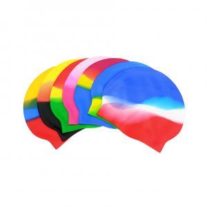 Solid Long Hair Earmuffs Waterproof Swim Cap Reversible For Adults Kids