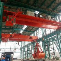Quality 10T Double Girder Overhead Grab Crane In City Waste Incineration Plant for sale