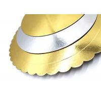 Quality Customize gold and silver back foil laminated grey paperboard for cake boards for sale