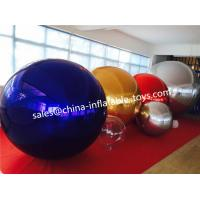 Buy cheap Red / Blue Fashion Show PVC Inflatable Mirror Ball Double & Triple Stitches from wholesalers