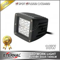 Quality 18W led work light 3x3 cube pod led lamp for 4x4 off road Wrangler 4WD truck motorcycle fog lamp back up driving light for sale