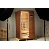 Quality Health Benefit Far Infrared Sauna Room 1300W with Clear Tempered Glass For One Person for sale
