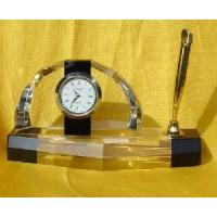 China Crystal Clock& Watch with Pen Holder (JY0407) on sale