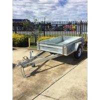 Quality 7x5 Hot Dipped Galvanized Single Axle Trailer with Mechanical Disc Brake 1400KG for sale
