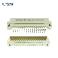 Quality Right Angle PCB Male 2*16P 32pin 2 Rows DIN 41612 Connector W/ 2.54mm for sale