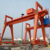 Quality Rail Mounted Gantry Crane MG Type 50T 100T 600T Capacity for Shipyard for sale