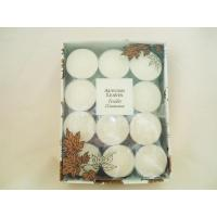 Quality Honeysuckle Perfume Scented Candles 24pcs Round Floating Candle for sale