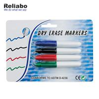 China Dry Eraser Fine Point Whiteboard Markers With Pad Printing Or Heat Transfer Printing on sale