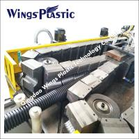 China Double Wall Corrugated Plastic PE PVC Pipe Manufacturing Machine For Sale on sale