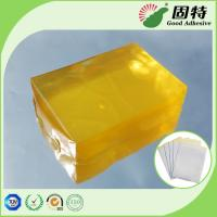 Quality Yellow transparent Block Strength Hot Glue , Medical Plaster Hot Melt Glue for sale