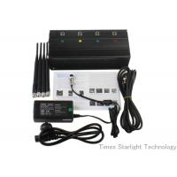 Quality Desktop Smart Cell Phone Signal Jammer , Cellular Phone GPS WiFi Jammer for sale