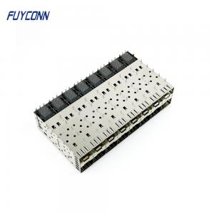 Quality 2*8 16 Port 320 Pin Press Fit SFP Modular SFP Cage Connector for sale