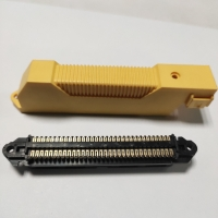 Quality Centronics 64 Pin IDC Female Connector with L Shape Plastic Cover for sale
