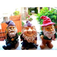 China Mini Polyresin Lady Garden Gnome with evergreen hat for planter, terrarium, shelf, or window sill on sale