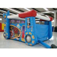China Robot Design Bounce House With Slide , Commercial Castle Bounce House 5.7 * 4.7 * 3.7 on sale