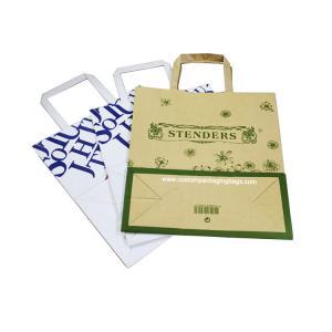 Buy cheap Kraft flat portable shopping bag from wholesalers