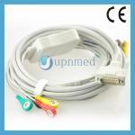 Quality Cardiette 10lead patient ekg cable, 15pins, Banana4.0mm for sale